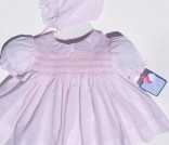 NWT Petit Ami Pink NB 3pc Smocked Dress Auction