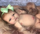 Amy Kate Doll Designs ~ 'Dotti' Full Body Solid Silicone OOAK Baby Doll, sculpted by Dawn Bowie & reborn by Amy Kate Irwin